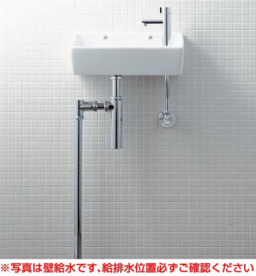INAX イナックス LIXIL リクシル 【YL-A35HP】手洗器(角形)壁給水・床排水(ボトルトラップ)アクアセラミック仕様[新品]