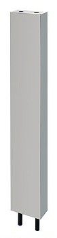 カクダイ 厨房用ステンレス水栓柱(立形水栓用)//20 【624-660-120】[新品]