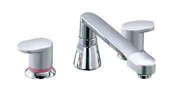 INAX LIXIL・リクシル 水栓金具 バス水栓 デッキタイプ 【BF-7093C】 アウゼ 2ハンドルバス水栓 乾式工法[蛇口][新品]