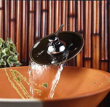 ミズタニバルブ 洗面用立水栓(滝吐水・受け皿陶器)【ML010】 【メーカー直送のみ・代引き不可・NP後払い不可】[新品]