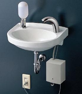 TOTO 手洗器セット 壁掛手洗器(平付)【L30DM】 自動水栓(単水栓)【TENA40A】 立形水石けん入れ【TS126AR】 取付金具【TL220D】 壁排水金具(Sトラップ)【T22BS】 [新品]