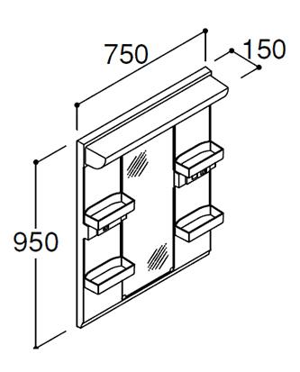 INAX LIXIL イナックス リクシル【MARE-751XSU】ミラーキャビネット LED照明 全高1900m用 1面鏡 スタンダードLED 収納付 くもり止めコート付【メーカー直送のみ・代引き不可・NP後払い不可】[新品]