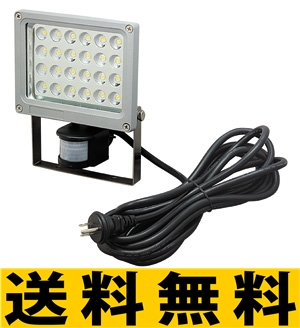 ジェフコム LED投光器(24Wセンサー型) 【PDS-0124C】 JEFCOM>照明器具>投光器型作業灯>LEDライト [新品]