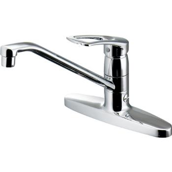 カクダイ 水栓材料 シングルレバー混合栓(分水孔つき)【116-104K】[新品]