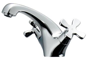 カクダイ 水栓材料 2ハンドル混合栓【150-435】[新品]