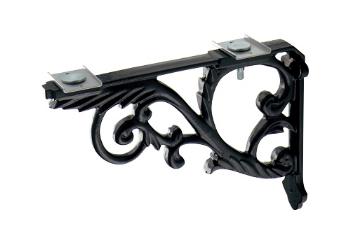 カクダイ 水栓材料 ブラケット//鋳鉄、黒色塗装【250-005-D】[新品]