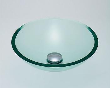 カクダイ 水栓材料 ガラス丸型洗面器//クリア【493-025-C】[新品]