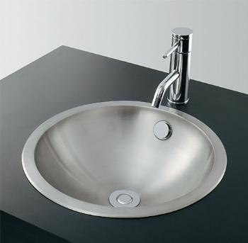 カクダイ 水栓材料 ステンレス丸型洗面器//ヘアライン【493-040】[新品]