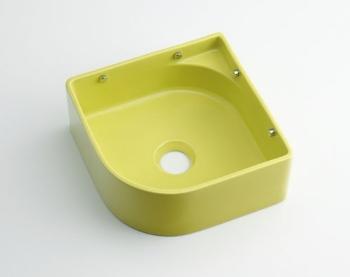 カクダイ 水栓材料 壁掛手洗器//イエローグリーン【493-048-YG】[新品]