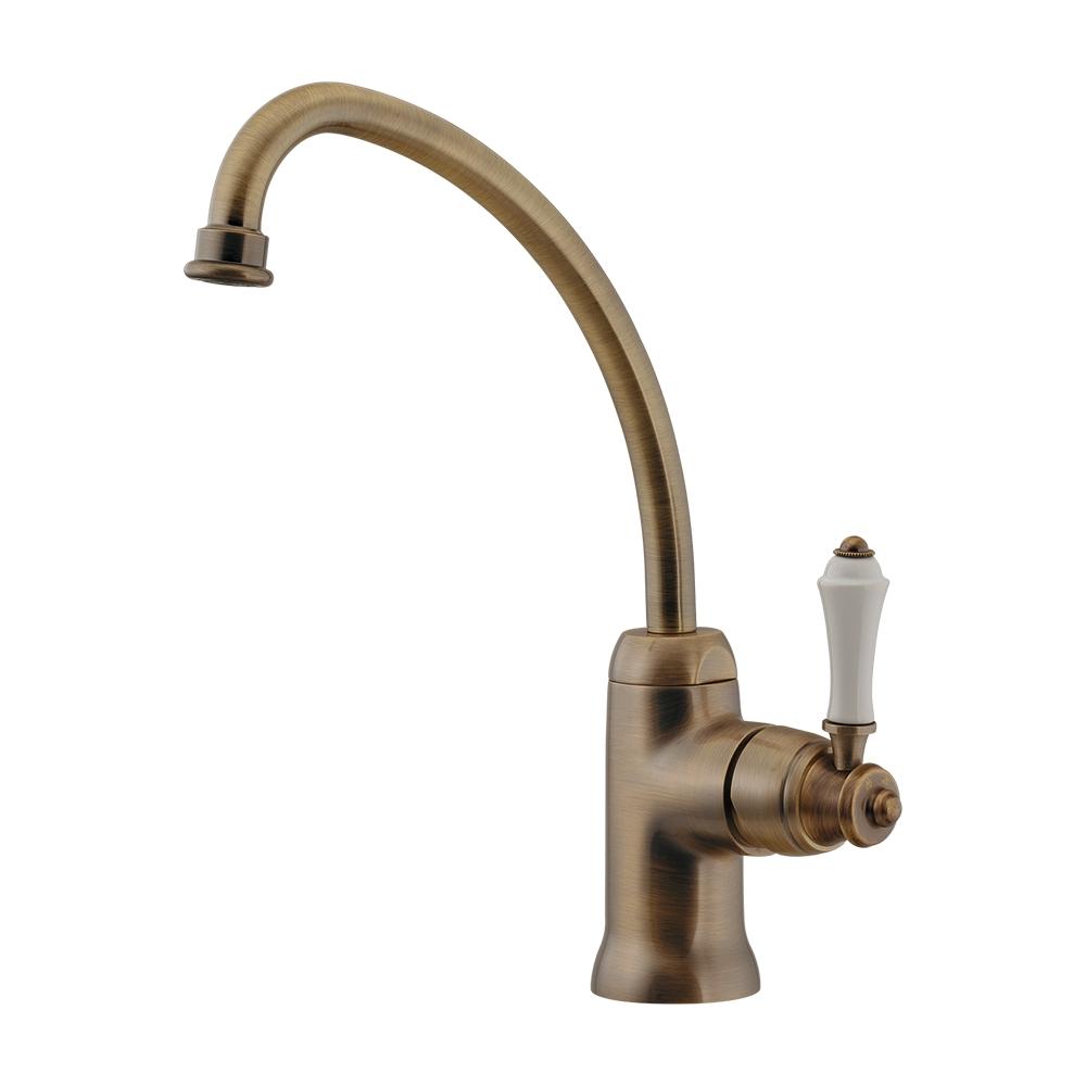 カクダイ[KAKUDAI] 【117-137-AB】 シングルレバー混合栓//オールドブラス キッチン用水栓金具