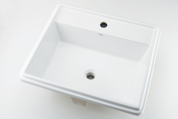 カクダイ 角型洗面器//1ホール【493-151】[新品]