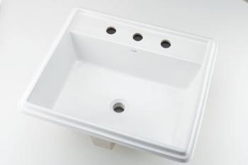 カクダイ 角型洗面器//3ホール【493-152】[新品]