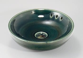 カクダイ 丸型手洗器//青竹【493-165-GR】[新品]