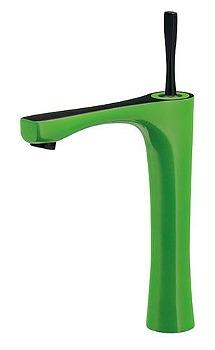 カクダイ シングルレバー混合栓(トール) ライムグリーン 受注生産品【183-235GN-GR】[新品]