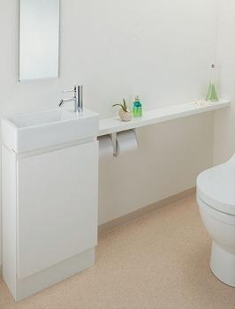 カクダイ 手洗カウンター(L・R兼用タイプ) ホワイト 受注生産品【497-504-W】[新品]