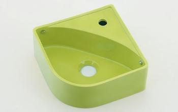 カクダイ 壁掛手洗器//イエローグリーン【493-150-YG】[新品]