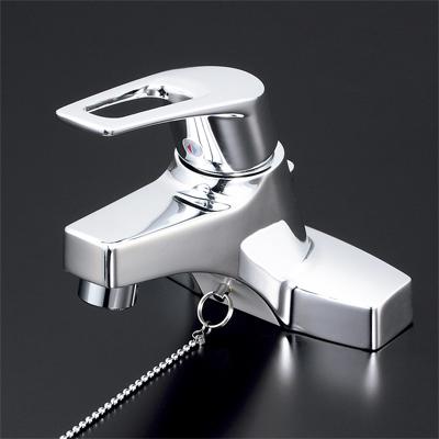KVK 洗面用シングルレバー式混合栓 ゴム栓付 【KM7014T】[新品]【NP後払いOK】