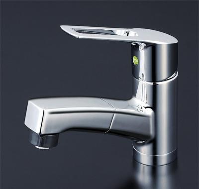 KVK 洗面用シングルレバー式シャワー付混合栓(eレバー) 【KM8001TFEC】[新品]【NP後払いOK】