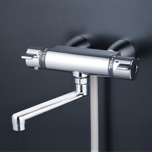 KVK サーモスタット式シャワー・スカートソケット仕様(170mmパイプ付)【KF800TG】[新品]