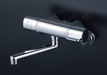 KVK 【MTB100KWR2T】 サーモスタット式混合栓(240mmパイプ付) 寒冷地対応 浴室用水栓 > 壁付サーモスタット [新品]【NP後払いOK】