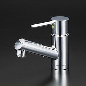 KVK 洗面化粧室 【KM8021ZTEC】 寒冷地用 洗面用シングルレバー式混合栓(eレバー) [新品]