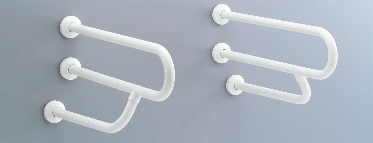 LIXIL リクシル 【KF-316AE70】 大便器・洗面器用手すり(壁固定式) 樹脂被覆タイプ[新品]