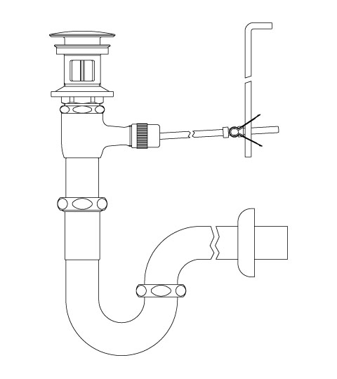 LIXIL リクシル 【LF-270PAC】 シリーズ名: シリーズ外 品名: ポップアップ式排水Pトラップ(排水口カバー付)[新品]