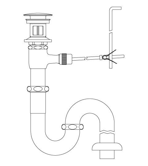 LIXIL リクシル 【LF-270SALC】 シリーズ名: シリーズ外 品名: ポップアップ式排水Sトラップ(排水口カバー付)[新品]