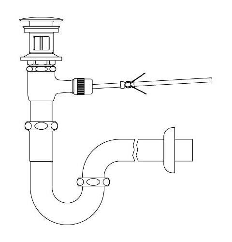 LIXIL リクシル 【LF-271PAC】 シリーズ名: シリーズ外 品名: ポップアップ式排水Pトラップ(排水口カバー付)[新品]