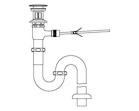 LIXIL リクシル 【LF-271SALC】 シリーズ名: シリーズ外 品名: ポップアップ式排水Sトラップ(排水口カバー付)[新品]