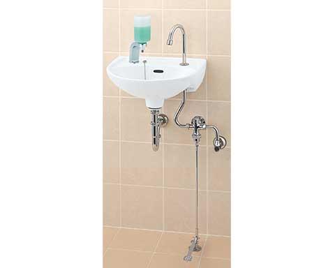 LIXIL リクシル 【LF-43U】 シリーズ名: シリーズ外 品名: 足踏式手洗水栓(泡沫式)[新品]
