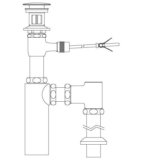 LIXIL リクシル 【LF-711SAC】 シリーズ名: シリーズ外 品名: ポップアップ式排水ボトルSトラップ(排水口カバー付)[新品]