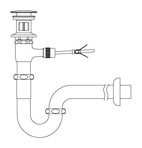 LIXIL リクシル 【LF-71PAC】 シリーズ名: シリーズ外 品名: ポップアップ式排水Pトラップ(排水口カバー付)[新品]