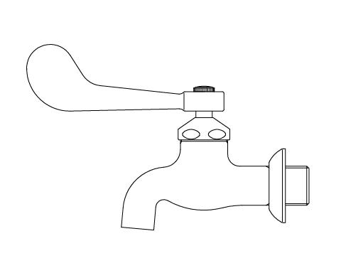 LIXIL リクシル 【LF-7EZ-19】 シリーズ名: シリーズ外 品名: レバー式送り座付横水栓[新品]