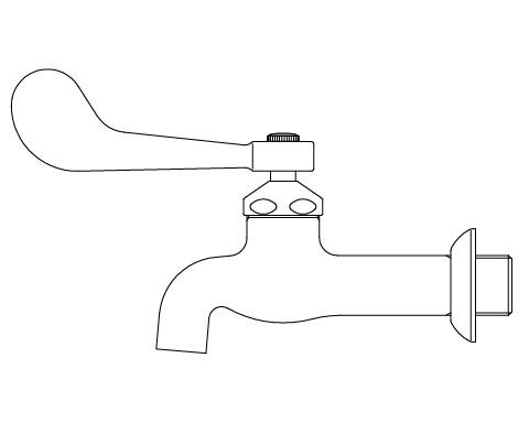 LIXIL リクシル 【LF-7KEZ-19】 シリーズ名: シリーズ外 品名: レバー式送り座付胴長横水栓[新品]