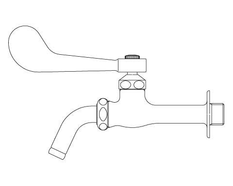 LIXIL リクシル 【LF-7KRZ-13】 シリーズ名: シリーズ外 品名: レバー式吐水口回転形胴長横水栓(水用)[新品]