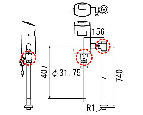 LIXIL リクシル 【OKC-5115USCWA】 シリーズ名: オートフラッシュC 品名: オートフラッシュC センサー一体形 シャワートイレ自動洗浄対応(床給水形)[新品]