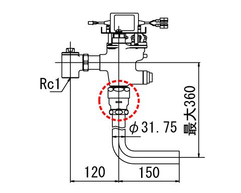 LIXIL リクシル 【OKC-680U-C】 シリーズ名: オートフラッシュC 品名: オートフラッシュC セパレート形 自動フラッシュバルブ(ボックス無・埋込形)(中水用)[新品]