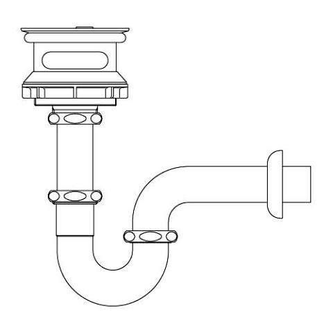 LIXIL リクシル 【SF-21PAM】 シリーズ名: シリーズ外 品名: ユーティリティユニット用排水Pトラップ[新品]