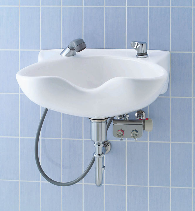 LIXIL リクシル 【SF-52TN-TKG】 シリーズ名: シリーズ外 品名: ホース収納式サーモスタット付洗髪シャワー混合水栓[新品]