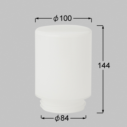 TOEX 門まわり 【LYT05001A】 GK-3型用 ガラスグローブ シロ[納期10日前後] 【メーカー直送のみ・代引き不可・NP後払い不可】[新品]