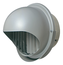 メルコエアテック 換気扇 【AT-250MWSJK5】 外壁用(ステンレス製) 丸形フード(ワイド水切タイプ)|縦ギャラリ・網 防火ダンパー付(120℃) [新品]
