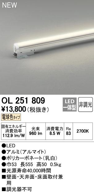 オーデリック ベースライト 【OL 251 809】【OL251809】[新品]【RCP】