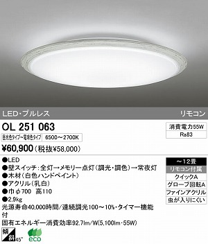 オーデリック インテリアライト シーリグライト 【OL 251 063】 OL251063[新品]
