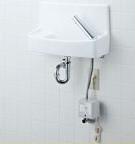INAX LIXIL・リクシル 手洗器【L-A74UA2B】自動水栓(100V) 同上水石けん入れ付タイプ ハイパーキラミック 床給水床排水[新品]