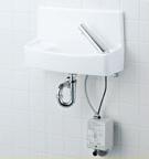 INAX LIXIL・リクシル 手洗器【L-A74UM2D】自動水栓(アクエナジー) 同上水石けん入れ付タイプ ハイパーキラミック 床給水壁排水[新品]