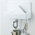 INAX LIXIL・リクシル 手洗器【L-A74UW2D】温水自動水栓(100V) 同上水石けん入れ付タイプ ハイパーキラミック 床給水壁排水[新品]