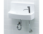 INAX LIXIL・リクシル 手洗器【YL-A74HD】ハンドル水栓 アクアセラミック(受注後3日) 床給水壁排水[新品]