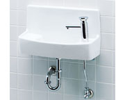 INAX LIXIL・リクシル 手洗器【YL-A74P2D】セルフストップ水栓 同上水石けん入れ付タイプ アクアセラミック(受注後3日) 床給水壁排水[新品]