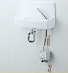 INAX LIXIL・リクシル 手洗器【YL-A74UAB】自動水栓(100V) アクアセラミック(受注後3日) 床給水床排水[新品]